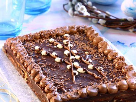 Mazurek mit Schokoladenglasur (Osterkuchen aus Polen)