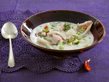 Rezept: Meerbarbe in Kokossuppe