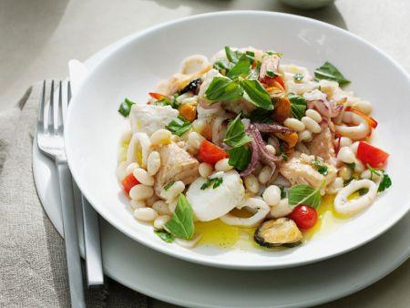 Meeresfrüchte mit Bohnen