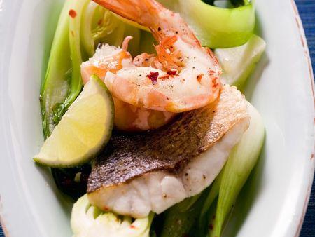 Meeresfrüchte mit Pakchoi