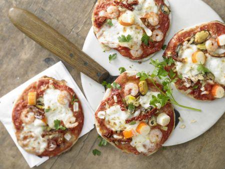 Meeresfrüchte-Pizza
