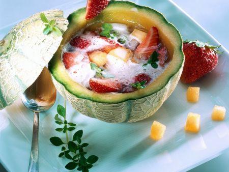 Melonen-Erdbeer-Suppe