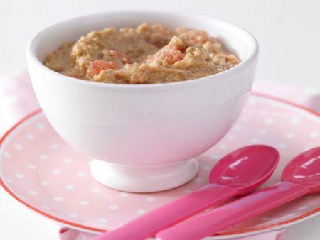 Melonen-Keks-Brei mit Haferflocken