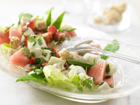Melonen-Mozzarella-Salat
