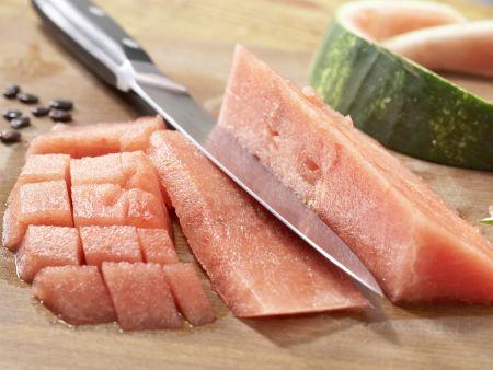 Melonen-Mozzarella-Salat: Zubereitungsschritt 3