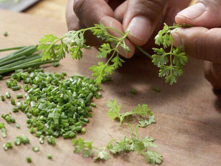 Melonen-Mozzarella-Salat: Zubereitungsschritt 6