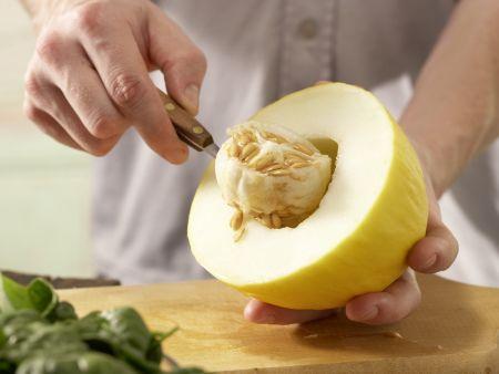 Melonen-Spinat-Saft: Zubereitungsschritt 1