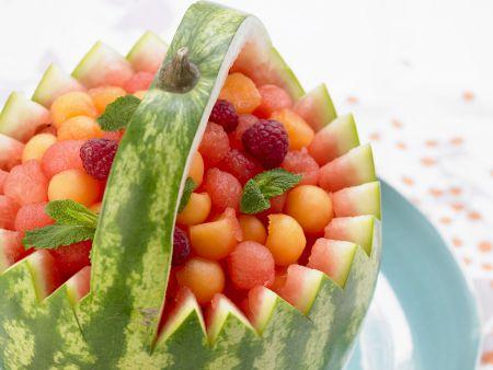 Melonenkügelchen in der Melone