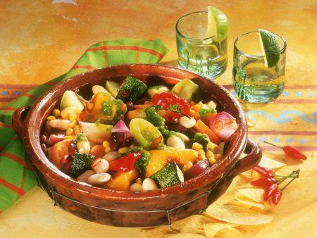Mexikanischer Gemüseeintopf mit Mais