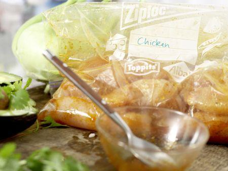 Mexikanischer Hähnchensalat: Zubereitungsschritt 2
