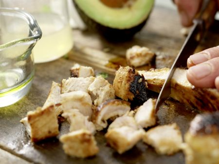 Mexikanischer Hähnchensalat: Zubereitungsschritt 8