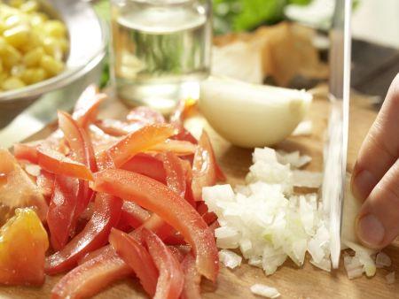 Mexikanischer Salat: Zubereitungsschritt 2