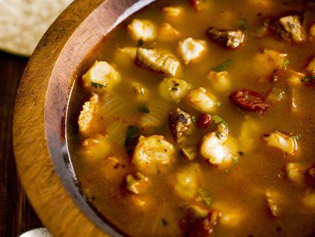 Rezept: Mexikanisches Eintopf mit Schweinefleisch (Posole)