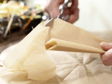 Miesmuscheln in Backpapier: Zubereitungsschritt 7