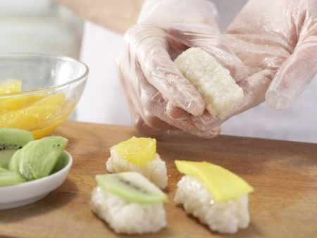 Milchreis-Sushi Kokostraum: Zubereitungsschritt 10