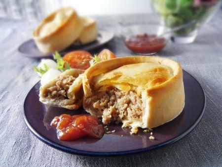 Mini-Pie mit Lammhackfleisch