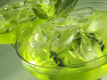 Minz-Melonen-Drink