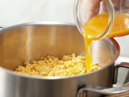 Möhren-Dinkel-Brei mit Mandeln: Zubereitungsschritt 2