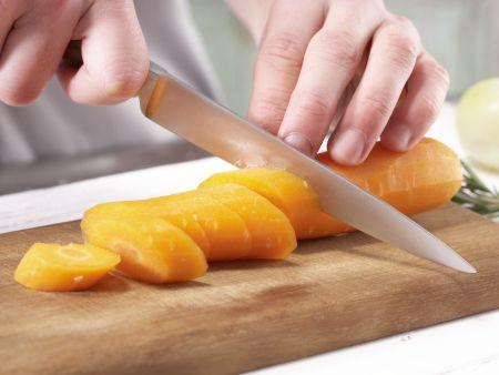 Möhren-Kohlrabi-Gratin: Zubereitungsschritt 1