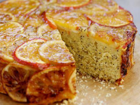 Mohnkuchen mit Orangen