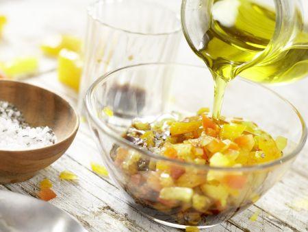 Mosaik von geröstetem Paprika: Zubereitungsschritt 10