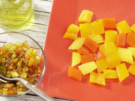 Mosaik von geröstetem Paprika: Zubereitungsschritt 11