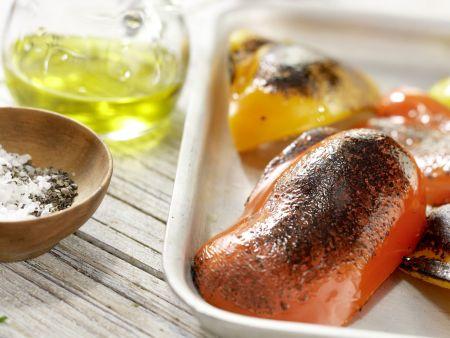 Mosaik von geröstetem Paprika: Zubereitungsschritt 6