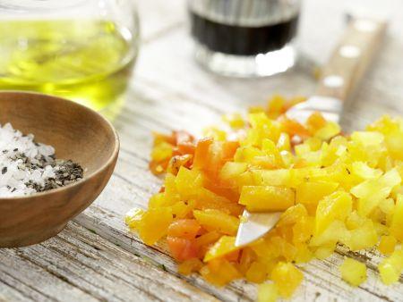 Mosaik von geröstetem Paprika: Zubereitungsschritt 9