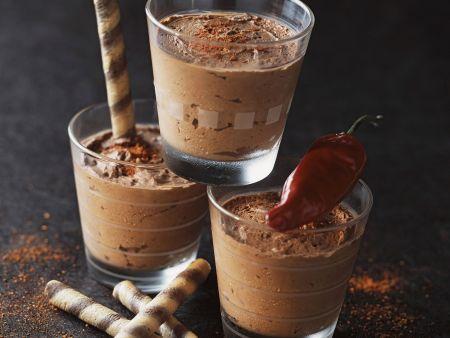 Mousse au Chocolat mit Chili