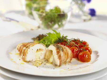Mozzarella-Hähnchen-Taschen
