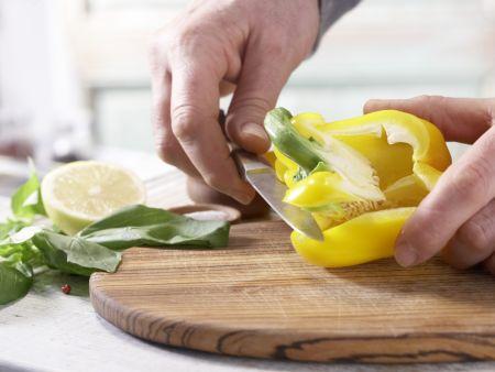 Mozzarella-Spieße: Zubereitungsschritt 1
