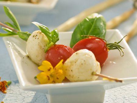 Mozzarella-Tomaten-Spieß