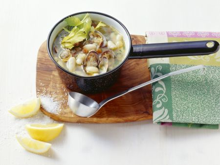 Muschel-Bohnen-Suppe nach italienischer Art