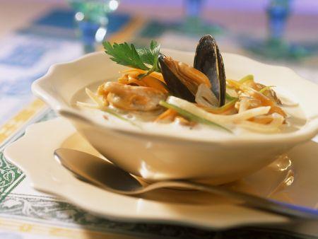 Muschel-Gemüsesuppe