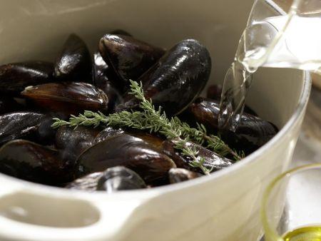 Muschelsuppe: Zubereitungsschritt 1