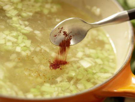 Muschelsuppe: Zubereitungsschritt 10