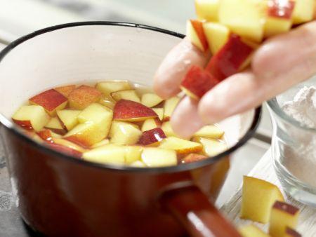 Nektarinen-Gelee auf Kefircreme: Zubereitungsschritt 4