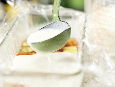 Nektarinen-Gelee auf Kefircreme: Zubereitungsschritt 8