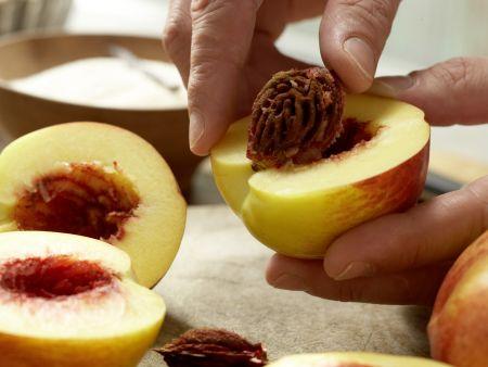 Nektarinen-Marmelade: Zubereitungsschritt 1