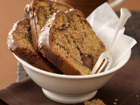Rezept: Nougatkuchen mit Kaffee und Amarenakirschen