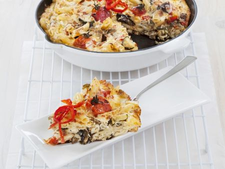 Nudel-Gemüse-Omelett