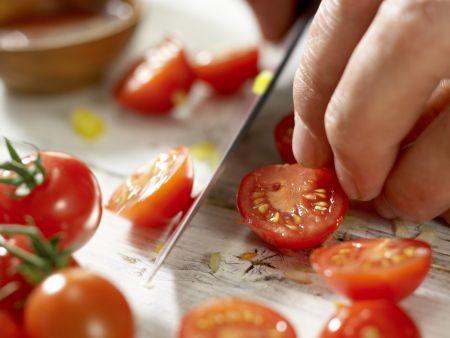 Nudel-Gemüse-Salat: Zubereitungsschritt 4