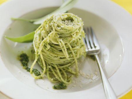 Rezept: Nudeln mit Bärlauch-Pesto