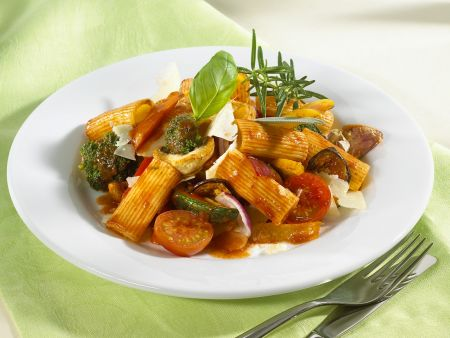 Rezept: Nudeln mit Gemüsesauce