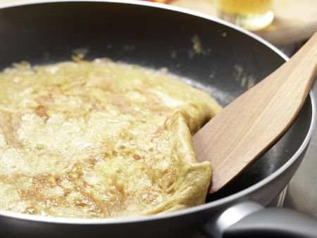 Nudelpfanne mit Sprossen und Ei: Zubereitungsschritt 7
