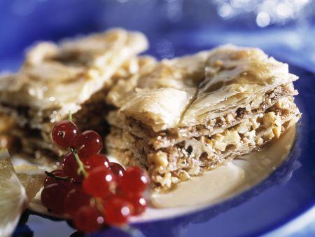 Nusskuchen auf türkische Art (Baklava)