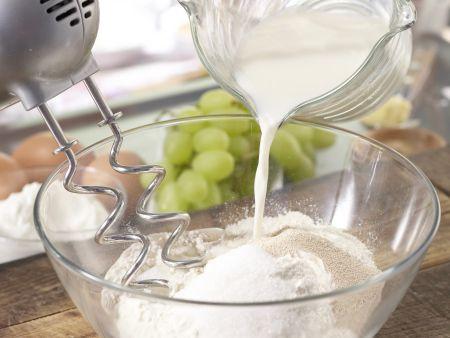 Obst-Quarkkuchen: Zubereitungsschritt 1