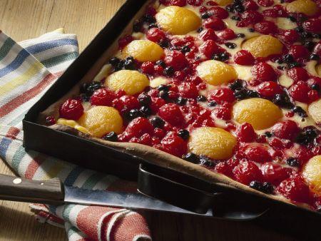 Rezept: Obstkuchen mit Schmand