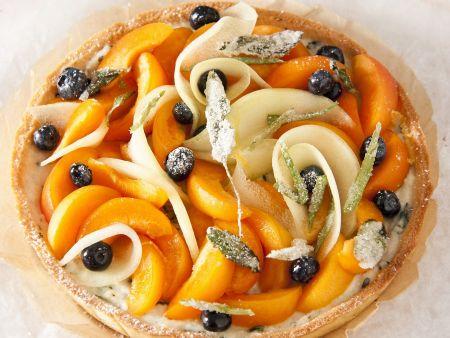 Obstkuchen mit Zucker-Kräutern