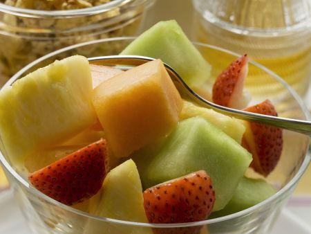 Rezept: Obstsalat und Müslimischung
